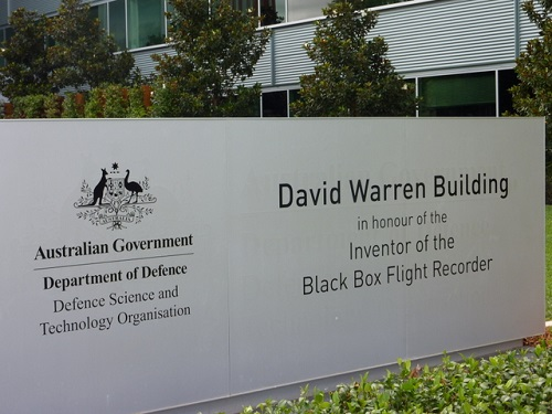 DSTO Headquarters building in Canberra named the Dave Warren Building on 25 March 2014