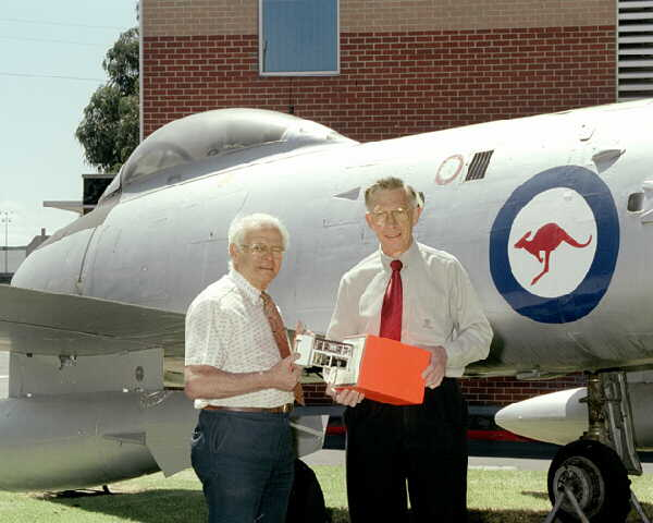 David Warren (left) 