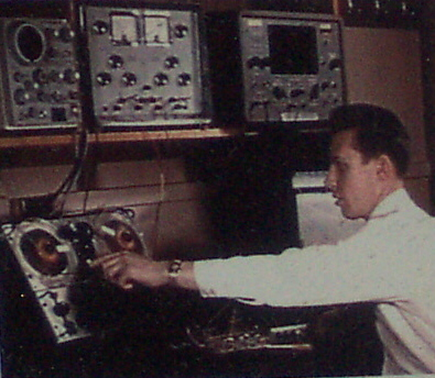 Ken Fraser working on ground station recovery in 1962
