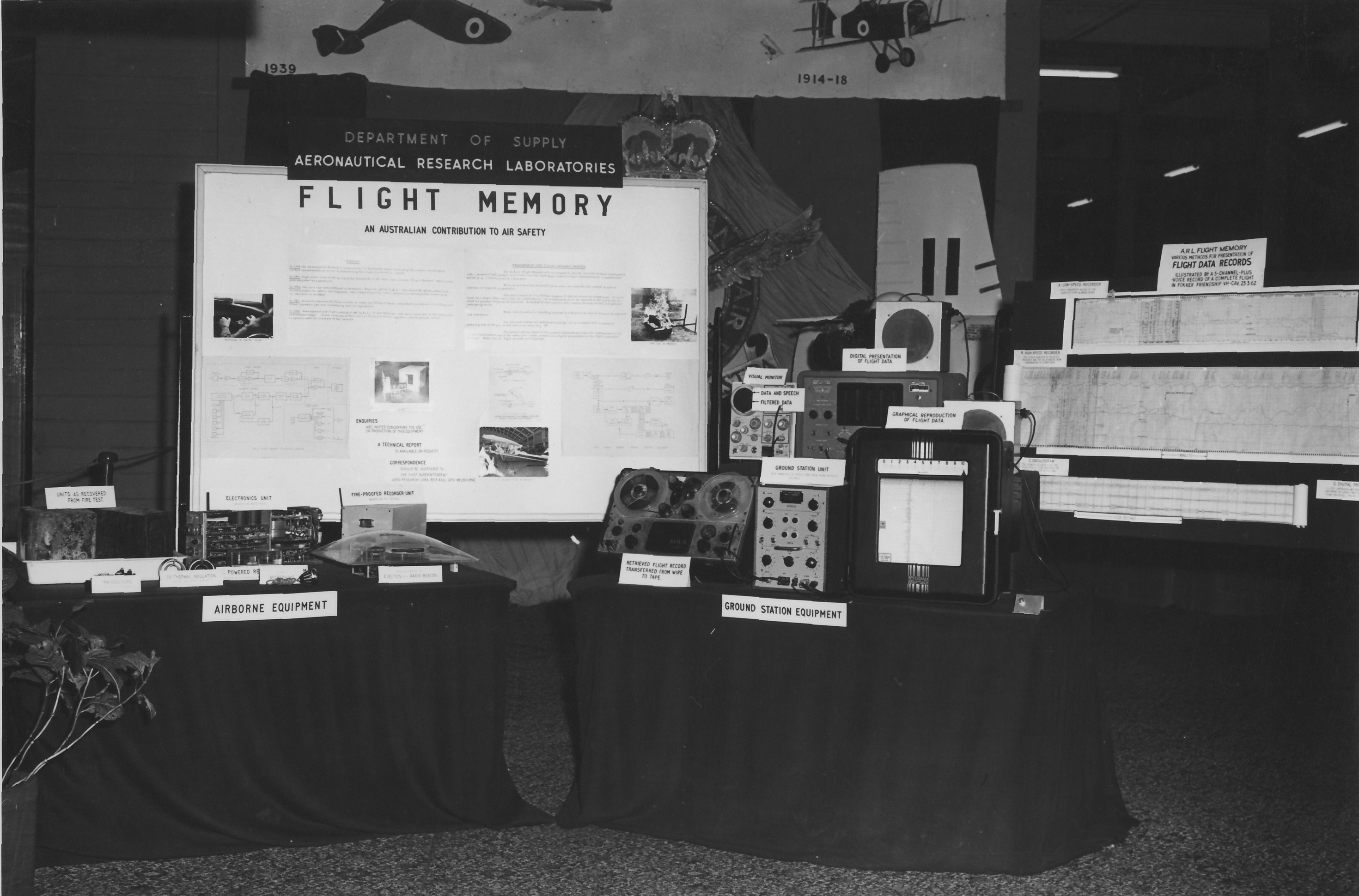 Flight Memory public display at International Trade Fair in Melbourne from 27 February to 16 March 1963